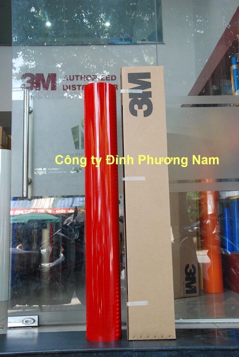 Màng phản quang 3M series 3900-Màu Đỏ vật liệu  biển báo giao thông tốt