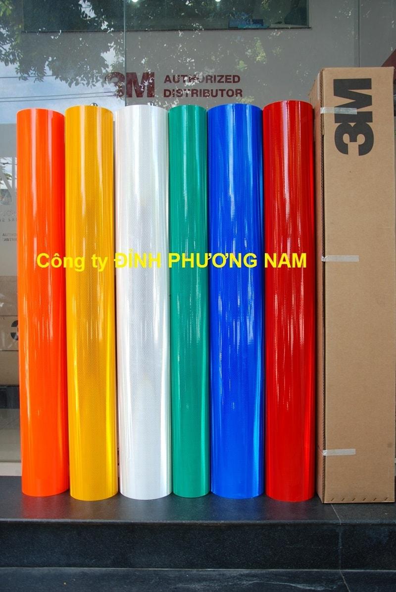 Màng phản quang 3M series 4000 - Màu Vàng/Xanh/Đỏ/Trắng/Cam