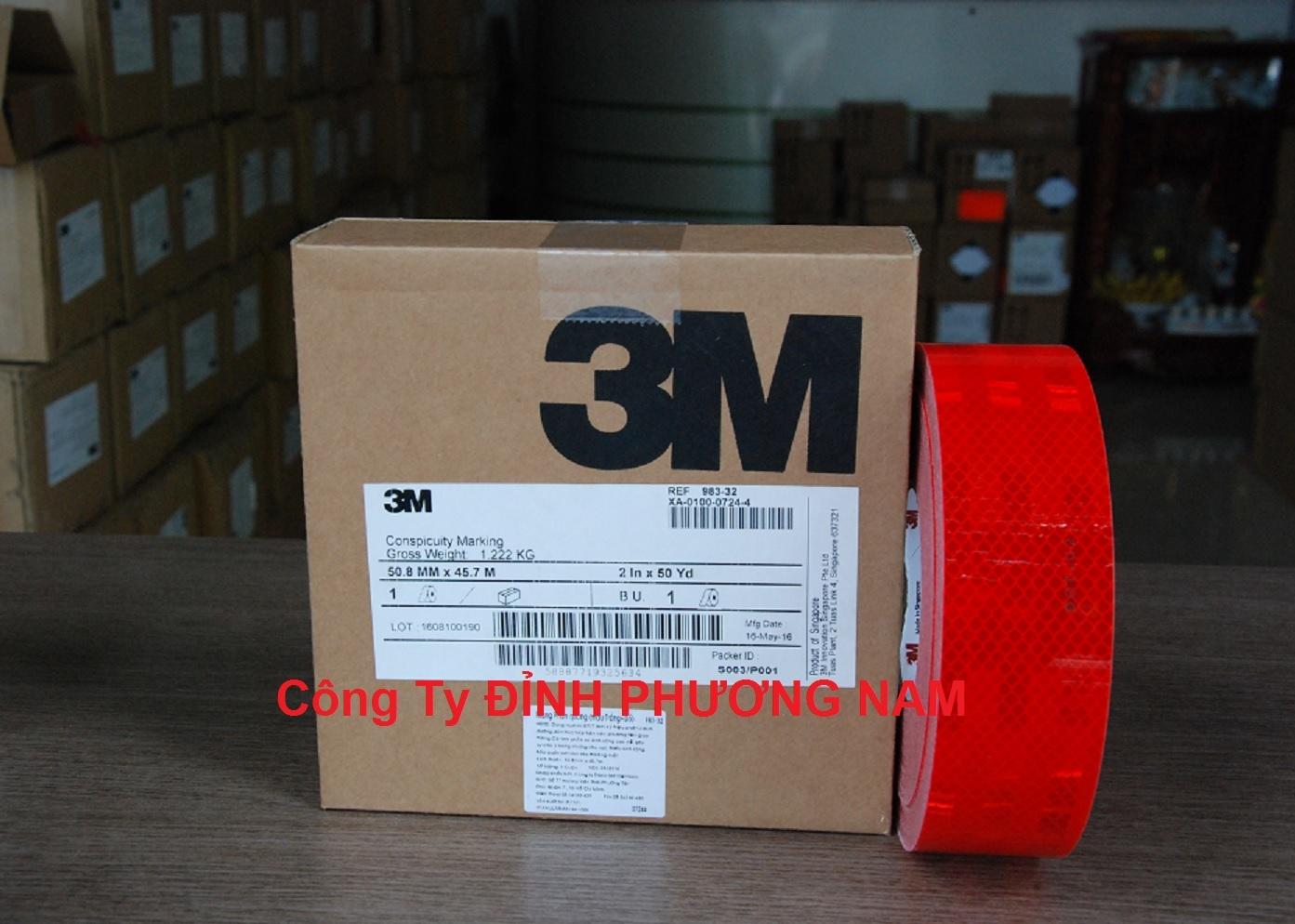 Màng phản quang 3M series 983 - Màu đỏ/vàng/trắng